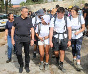 תמונות מהמסע, המכינאים עם ראש העיר