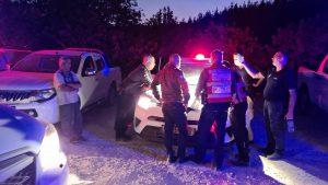 כוחות המשטרה והכיבוי באיזור השריפות