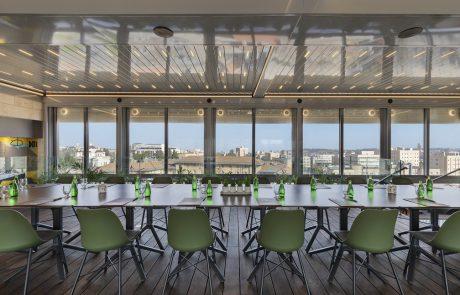 הסתיימה בניית אולם האירועים בקומה ה-8 במלון ibis ירושלים מרכז העיר   כל הפרטים