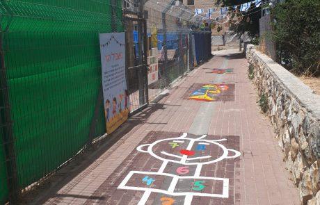 שביל קלאס, עפיפון מספרים ומשחק קפיצות: כך שידרגו ילדי גן שוהם את הדרך לגן שלהם