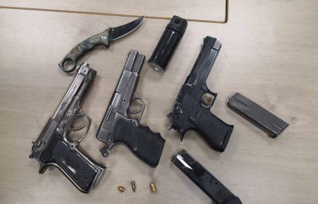 כלי נשק מסוכנים נתפסו במזרח העיר
