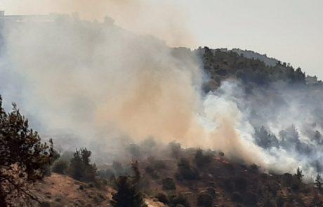 שריפת חורש פרצה סמוך למעלה החמישה