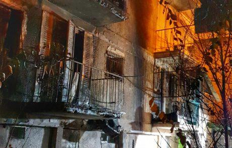 בניין הוצת בקריית מנחם, הדיירים פונו
