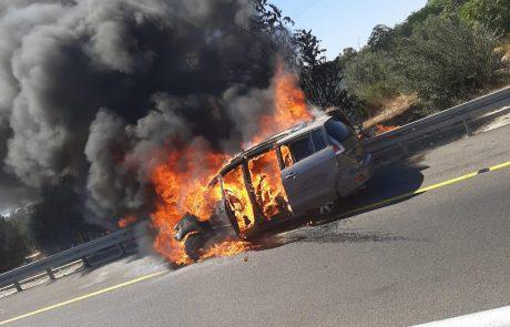לתשומת לב הנהגים: שריפה באזור שורש