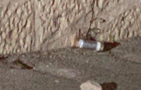 """מטען הושלך הלילה לעבר כוחות מג""""ב"""