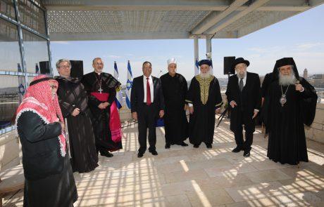מנהיגי הדתות הגיעו ללשכת ראש העיר