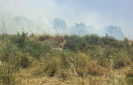 שריפה סמוך לקריית יערים