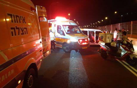 נהג משאית כבן 40 נפצע קשה בתאונה בכביש 1