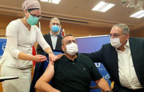 ראש העיר ירושלים, מר משה ליאון, התחסן בצהרי היום במרכז הרפואי הדסה עין כרם