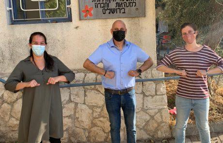 מחזיק תיק העסקים בביקור בעמותת 'טנא ירושלמי'