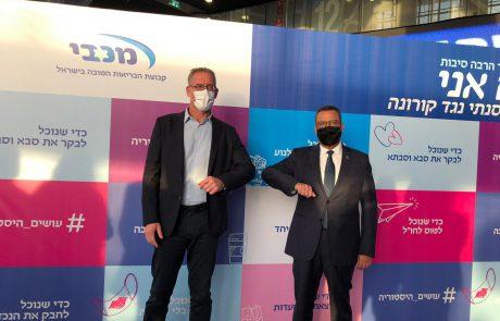 ראש העיר ירושלים ביקר במתחם חיסוני הקורונה של קופות החולים 'מכבי' ו'כללית' בארנה שבירושלים