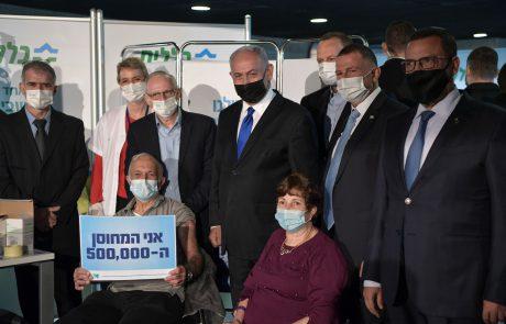 ראש הממשלה ושר הבריאות ביקרו במתחם החיסונים של כללית ופגשו את המתחסן ה-500,000