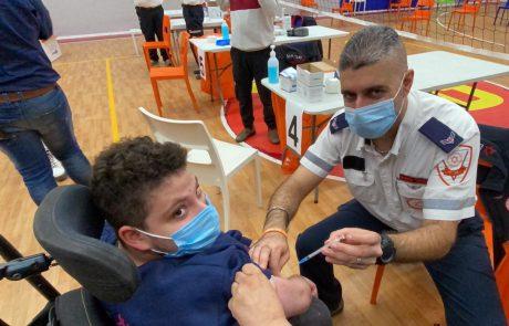 מבצע חיסונים בשלוה: למעלה מ-1000 אנשים עם מוגבלויות וצוותי רווחה חוסנו היום במרכז הלאומי שלוה בירושלים