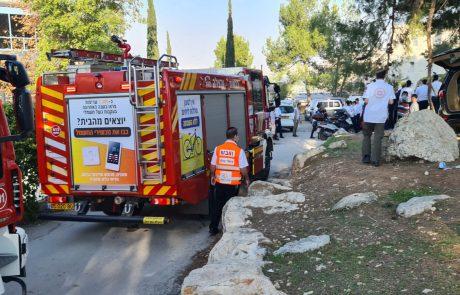 בשריפה בישיבה בירושלים טופלו 3 נפגעים