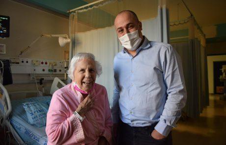לראשונה בעולם: במקום ניתוח לב פתוח מומחי מערך הלב בשערי צדק החדירו סכין ללבה של בת 96 דרך כלי הדם