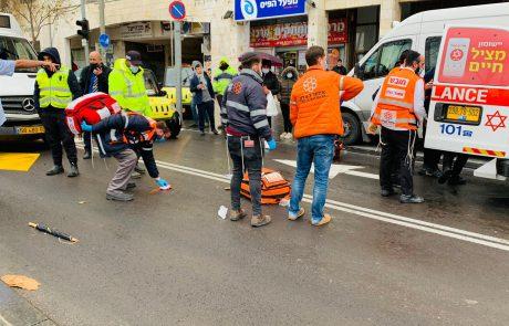 אישה כבת 70 נפצעה באורח קשה בתאונת דרכים ברחוב יפו בעיר