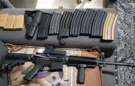משטרת ישראל עצרה חשוד שברשותו נשק מסוג M16