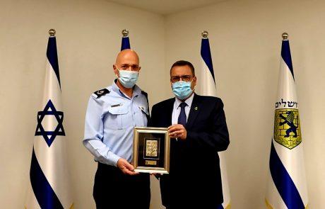 ראש העיר משה ליאון נפרד ממפקד מחוז ירושלים דורון ידיד שפורש מהמשטרה