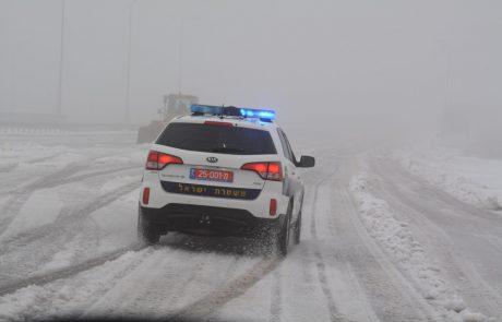 השלג כבר כאן: היערכות משטרת ישראל למזג האוויר הסוער | כל הפרטים