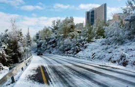 היערכות המרכזים הרפואיים הדסה להיערמות שלג בירושלים