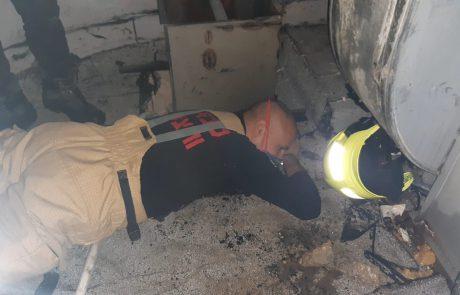 שריפה בתאטרון ירושלים: כוחות כיבוי האש במקום