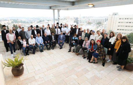 50 תורמי כליה נפגשו עם ראש העיר משה ליאון, לקראת תרומת הכליה האלף בשבוע הבא