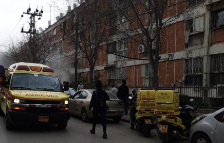השריפה ברחוב בר יוחאי: חמישה פצועים פונו מהזירה