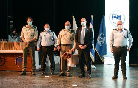 """טקס הענקת דרגות ומינויים לקציני משטרה בכירים בדרג תנ""""צ במעמד השר לביטחון פנים והמפכ""""ל"""