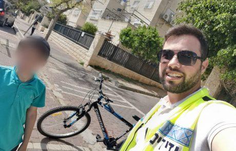 כונני ידידים חילצו ילד שרגלו נתקעה בגלגל אופניים