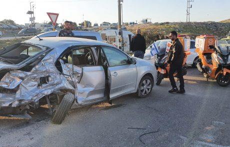 בן 40 נפצע בינוני בתאונה בכניסה לכפר ענאתא