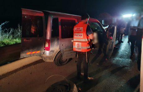 בן 17 נפצע אמש בינוני בתאונה בכביש 45