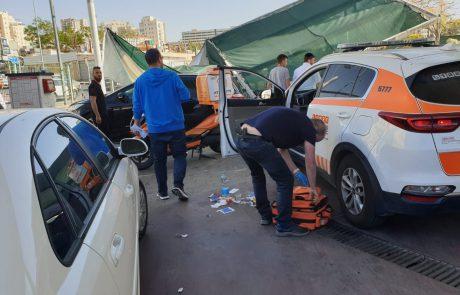 ילדה נפצעה בינוני כתוצאה מגג של שטיפת רכבים שקרס