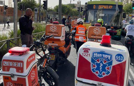 הולך רגל כבן 70 נפצע בינוני בתאונה בירושלים
