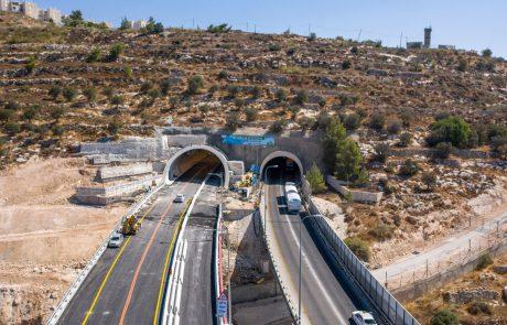 הבוקר נפתחו לתנועה נתיבי התחבורה החדשים בכניסה הדרומית לירושלים