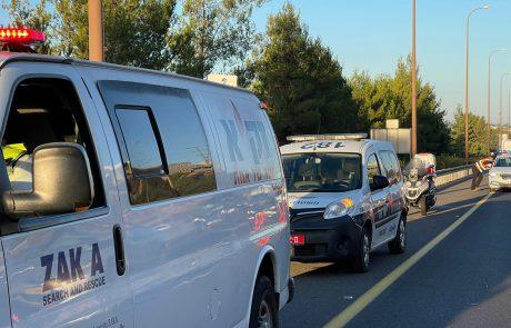 דוברות זק״א: צעיר כבן 20 נהרג הלילה בתאונה קטלנית בכביש 1 סמוך לירושלים