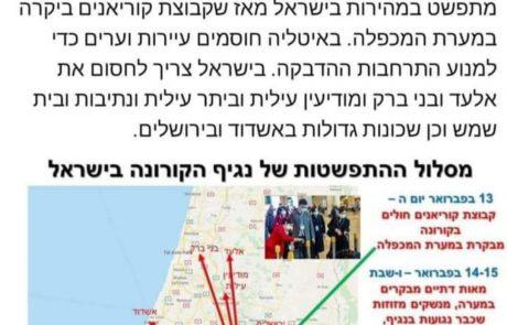 מקומם: פרופסור בעברית מצא את מפיצי הקורונה