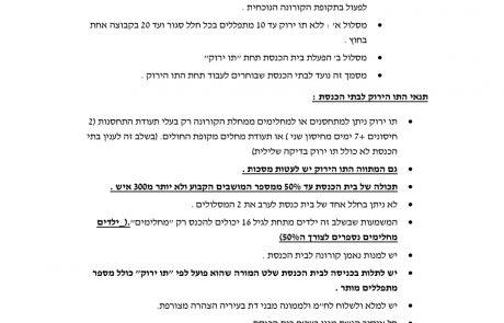 לאחר כמעט שנה בהם היו סגורים: בתי הכנסת יפתחו בקרוב בכפוף למתווה התו הירוק